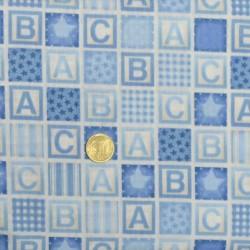 Tissu ABC bleu de Makower