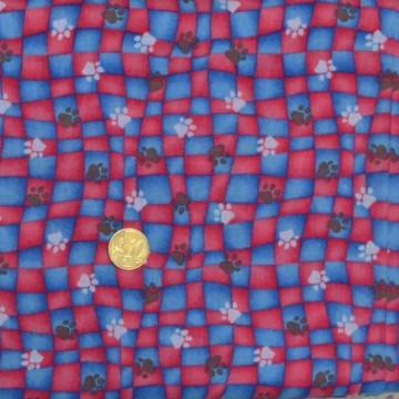 Tissu Les empreintes de pattes