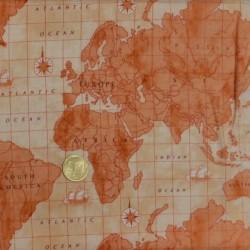 Tissu patchwork Le Planisphère