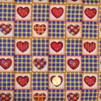 Tissu patchworK Coeurs