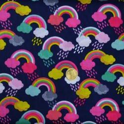 Tissu   patchwork Fantasy Raindrops de makower