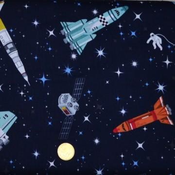Tissu   patchwork Galaxy Rockets  de makower