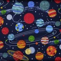 Tissu   patchwork Galaxy Planets  de makower