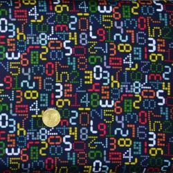 Tissu   patchwork Galaxy Number  de makower