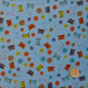 Tissu Sew Simple cotton reel scatter