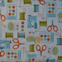Tissu Sew simple button spot
