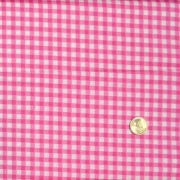 Tissu vichy rose  de makower