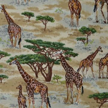 Tissu les  girafes