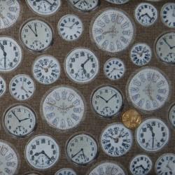 Tissu Vintage clocks