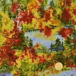 Tissu Effet de forêts de Blank
