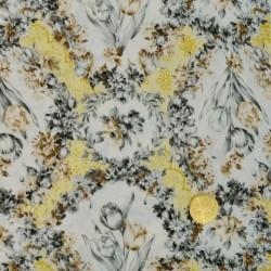 Tissu   Médaillon de Tulipes