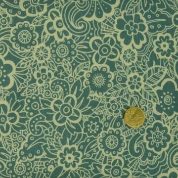 Tissu Deco Flowers Tonal Makower