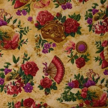 Tissu japonnais Victorian millinery