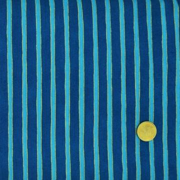 Tissu rayé Bleu Blank textile