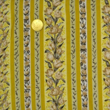 Tissu Patchwork  tulipe de Blank