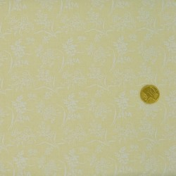 Tissu  faux uni écru impressions blanches
