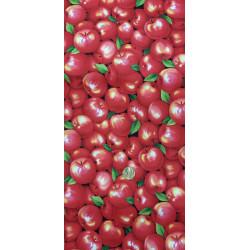 Tissu les pommes rouges