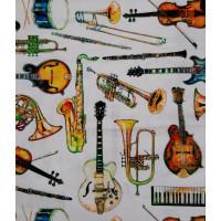 Tissu les instruments de musique de PB