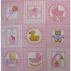 Vignette Patchwork Nursery rose