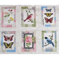 Etiquettes Vintage Oiseaux et papillons de Makower