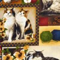 Tissu Four Paws Les chats   22716 PB