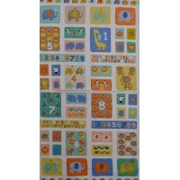 Tissu patchworK Baby Jungle de makower